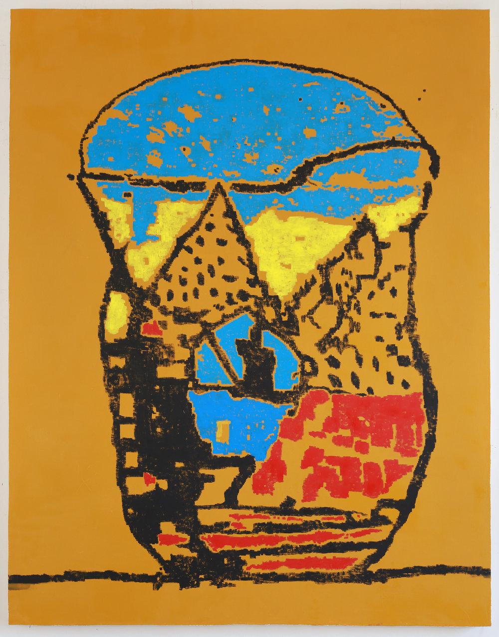 "EJ HAUSER   big imagining delphi , 2017, oil on canvas, 70"" x 55"""