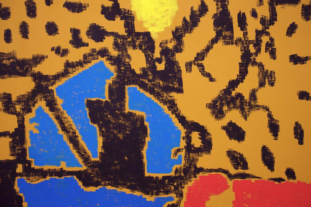 "EJ HAUSER  (detail) big imagining delphi , 2017, oil on canvas, 70"" x 55"""