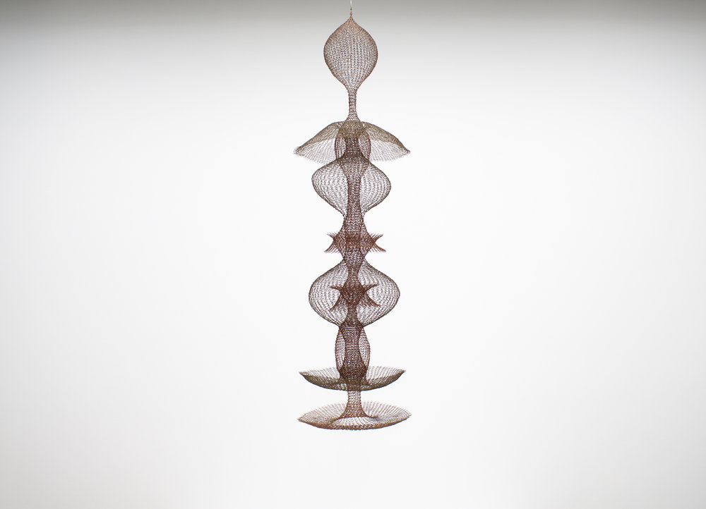 "RUTH ASAWA   Untitled (S.573) , 1953, iron and enameled copper wire, 63.5"" x 20"" x 20"""