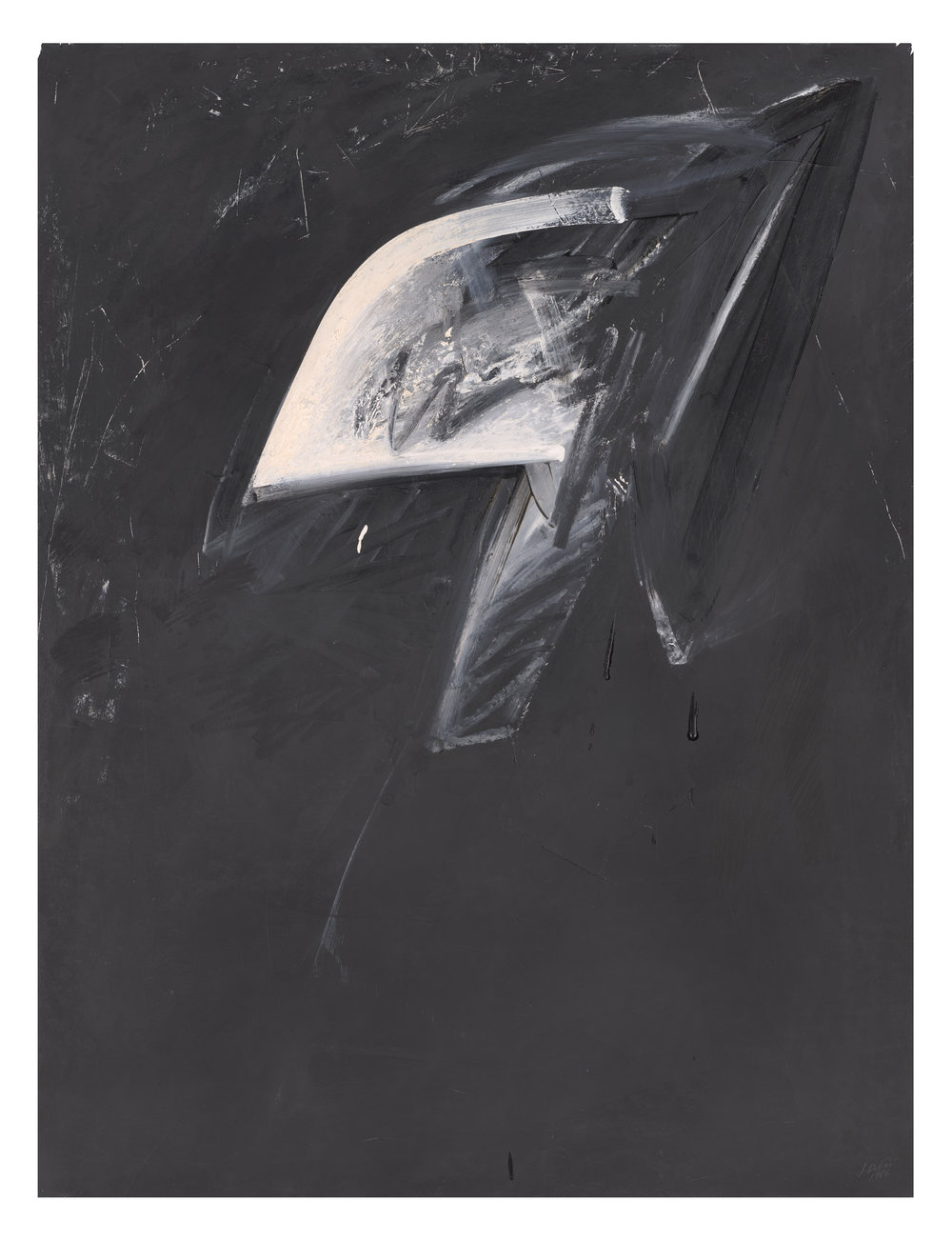"JAY DEFEO   Impressions of Africa No. 1 , (Estate no. E1031), 1986, oil and alkyd on paper, 50"" x 38"""