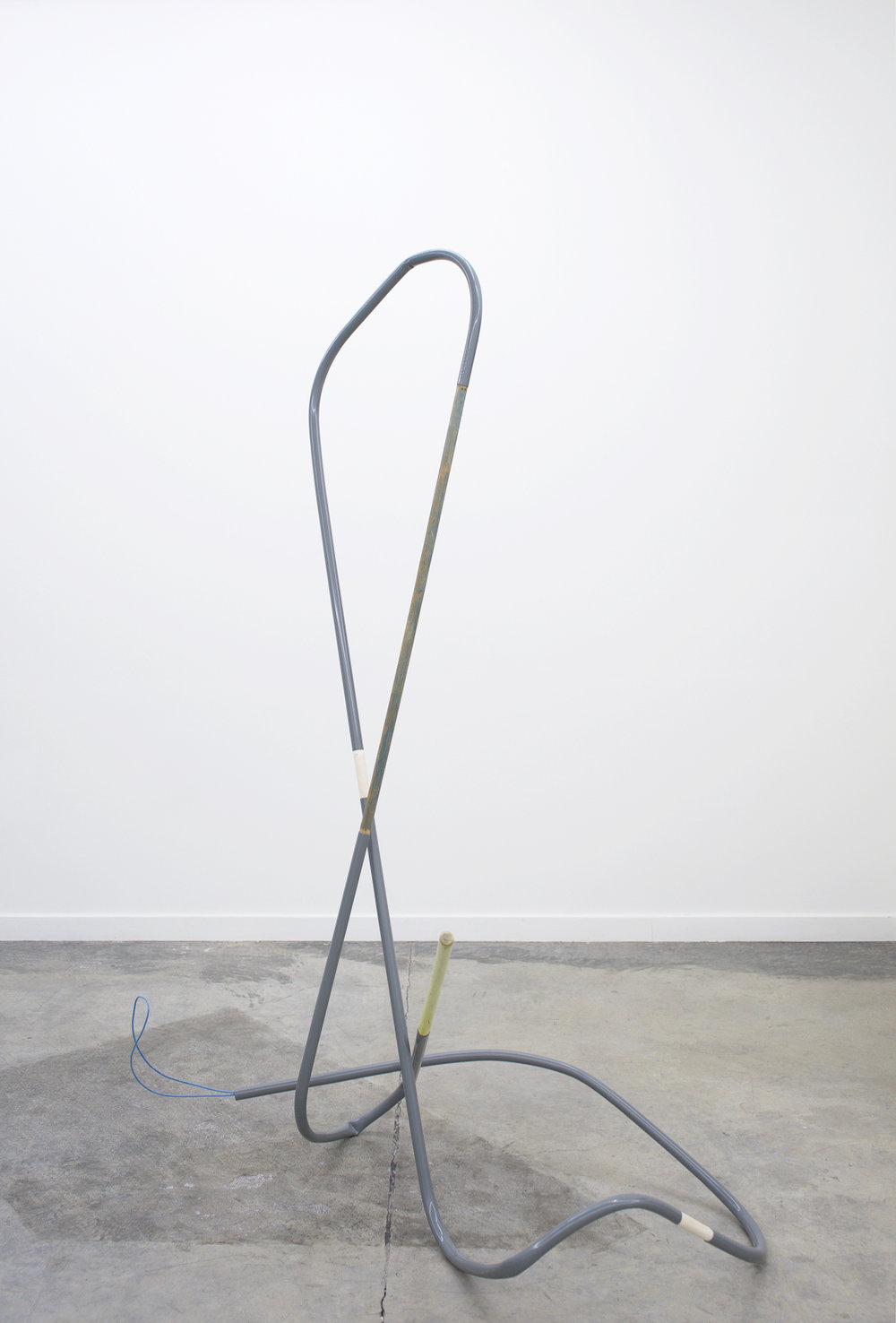 "KIRK STOLLER untitled (looped), 2018, wood, metal, latex paint, enamel, 73.5"" x 46.5"" x 32.5"""