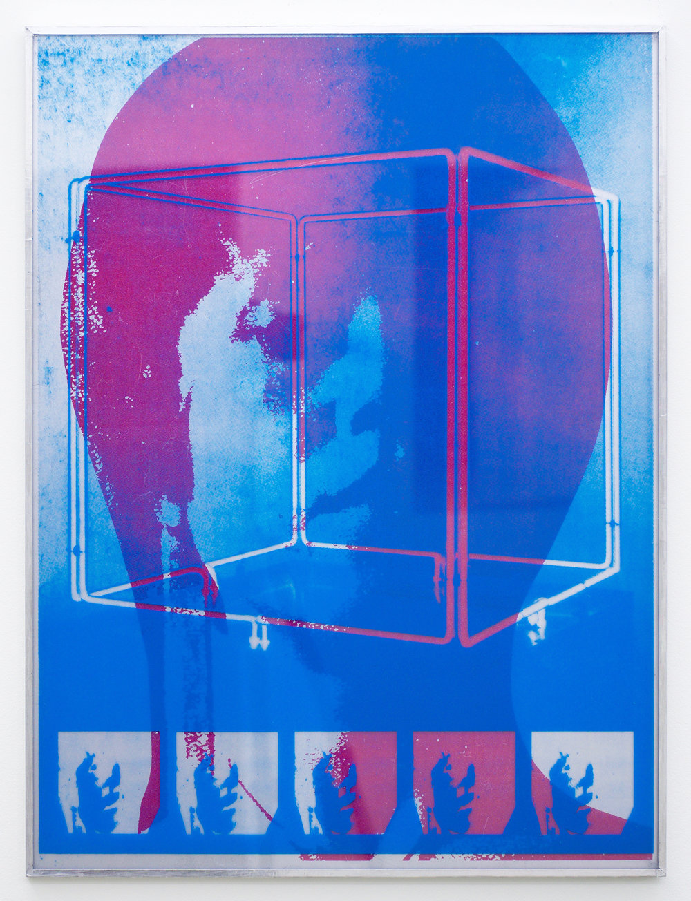 "GWENAËL RATTKE  Plastic Poster #1 , 2016 acrylic and unique silkscreen on plexiglas, 26"" x 19.75"""