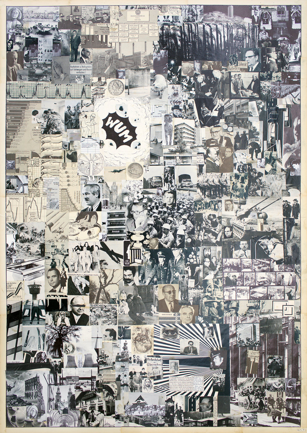 "GWENAËL RATTKE  Economic Miracle , 2010 collage on bard, 39.5"" x 27.5"""