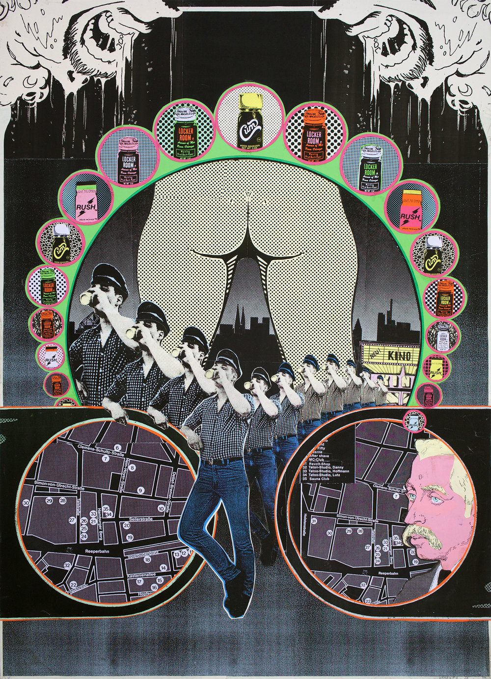 "GWENAËL RATTKE  Hamburg , 2008 collage on board, 27.5"" x 19.5"""