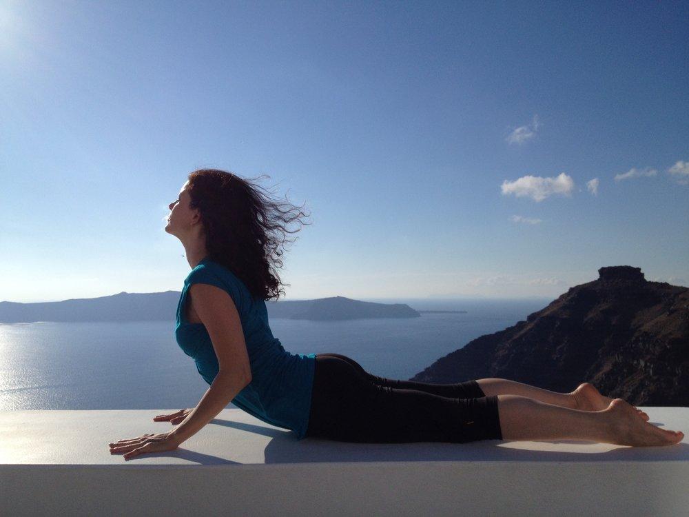 daily practice in Santorini, Greece.
