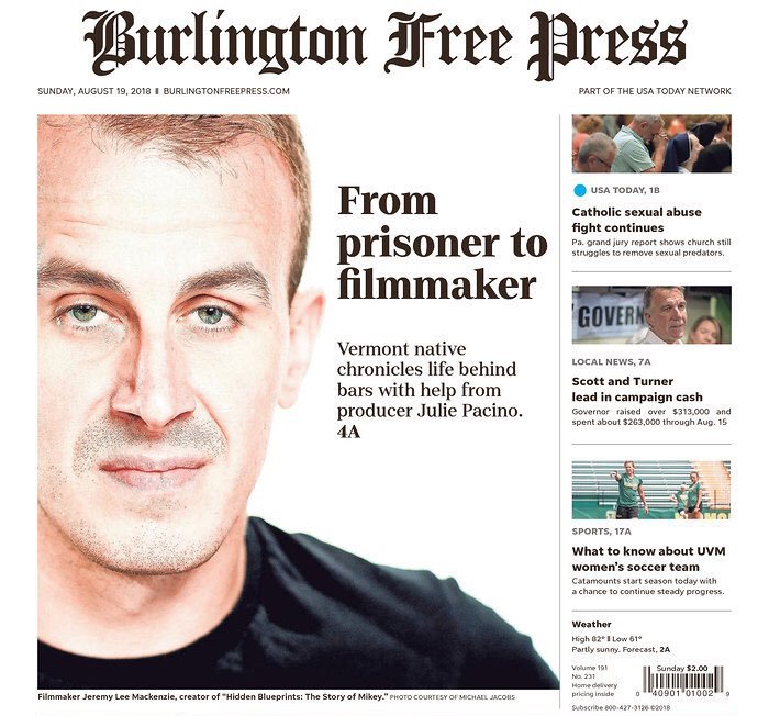 Click the image to read the Burlington Free Press cover story on director, Jeremy Lee MacKenzie.