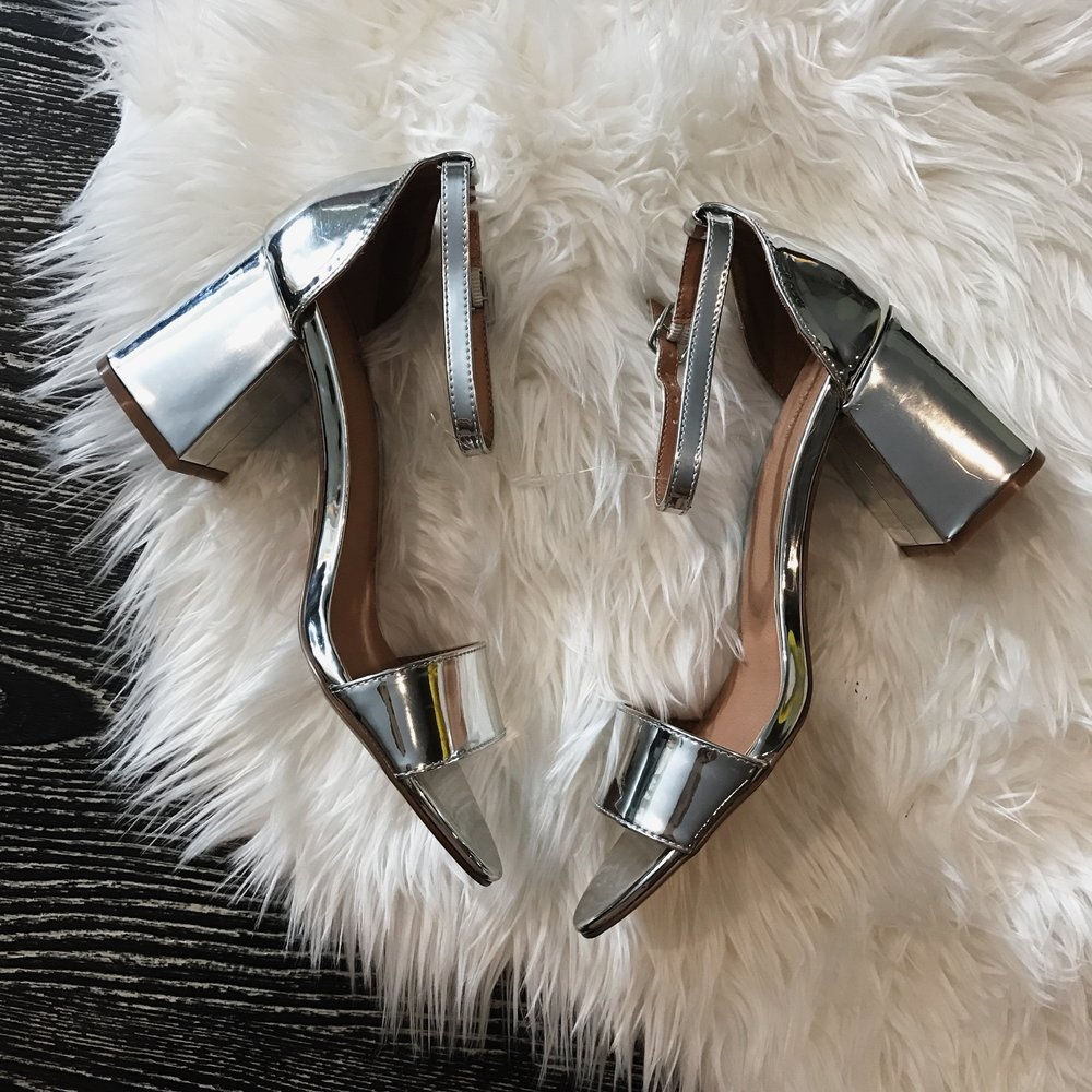Urban Outfitters   Linda Silver Heel; $19.99