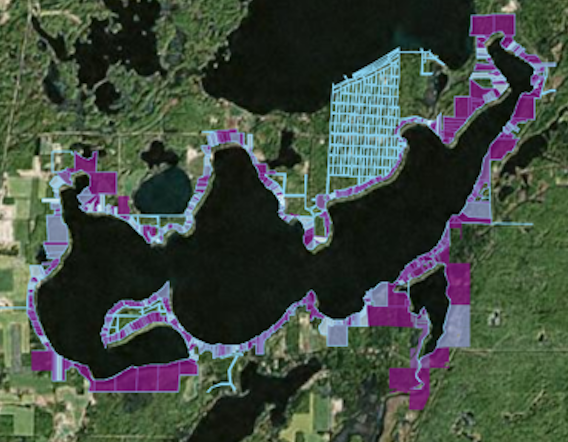 Shoreland buffer map (click for more detail)