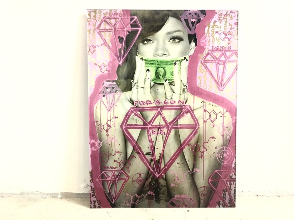 Hush Money | Rihanna |  18 x 24
