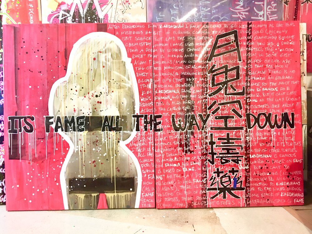 Fame All The Way | Kim Kardashian | 48 x 60 + 48 x 60