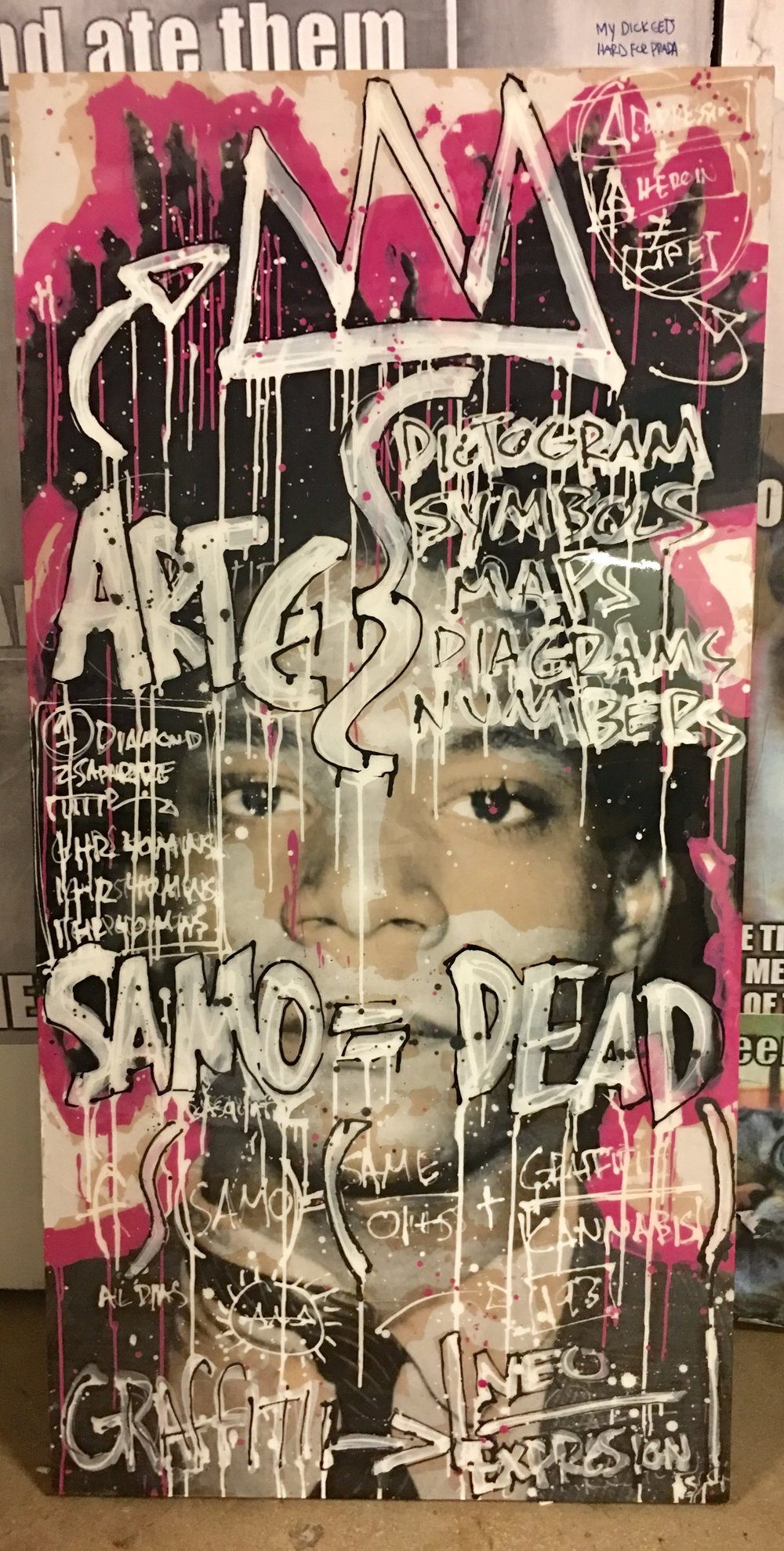 SOLD |Samo = Dead |  30 x 60 | Basquiat