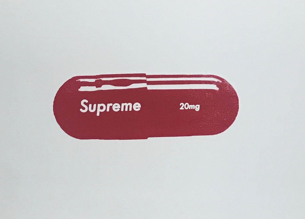 Supreme 20 mg - Series of 5, 24 x 14 Acrylic on Canvas, Jul '17SOLD