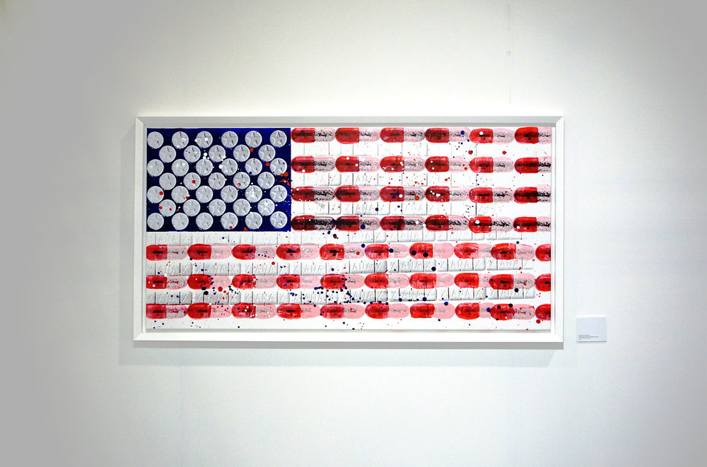 united states of pharmacology  - Series of 5, 58 x 29, Acrylic on Canvas1 Available | Buyer Inquiry