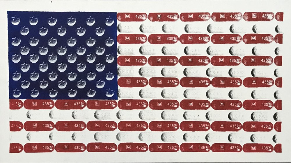 united states of opiods - Series of 5, 27 x 15, Acrylic on Canvas1 Available | Buyer Inquiry