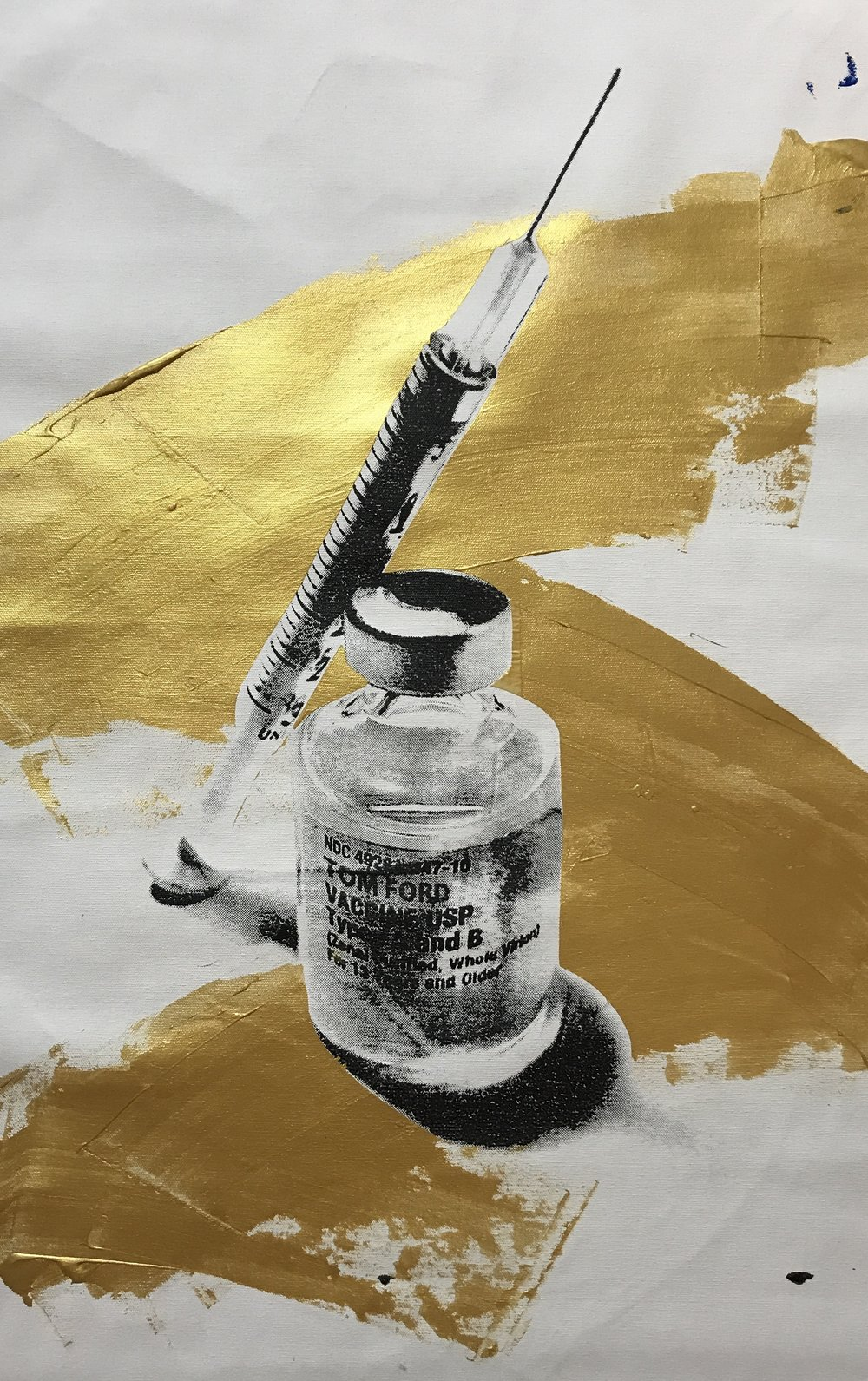 TOM FORD Vaccine  - 25 x 30 Acrylic on Canvas April 18 Buyer Inquiry