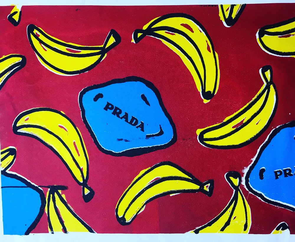 Big Banana - 18 x 24 Acrylic on Canvas Buyer Inquiry