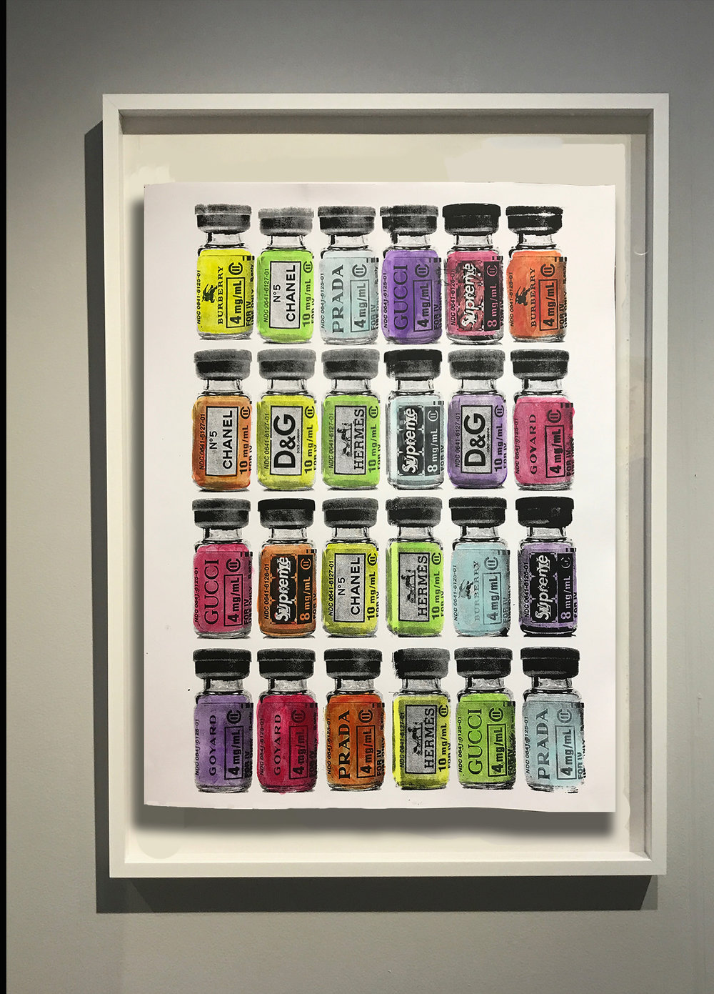 Designer Vaccines - 20 x 26 |Hand painted Silkscreen on Archival Paper May 18 | 1/1 Buyer Inquiry