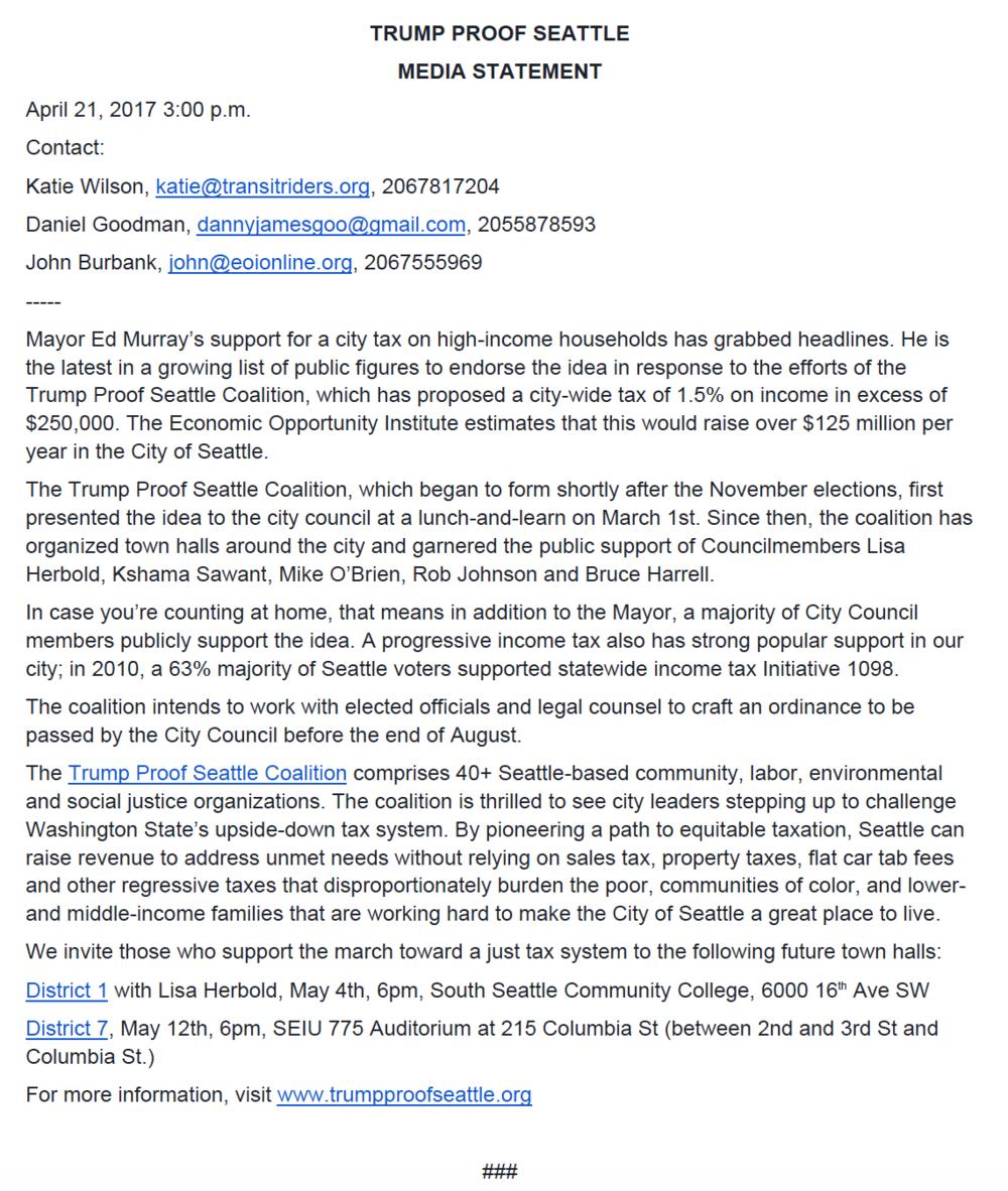 Press Release 04/21/17 -