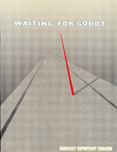 Program cover for Sam Beckett's  Waiting for Godot  at the Berkeley Repertory Theatre.