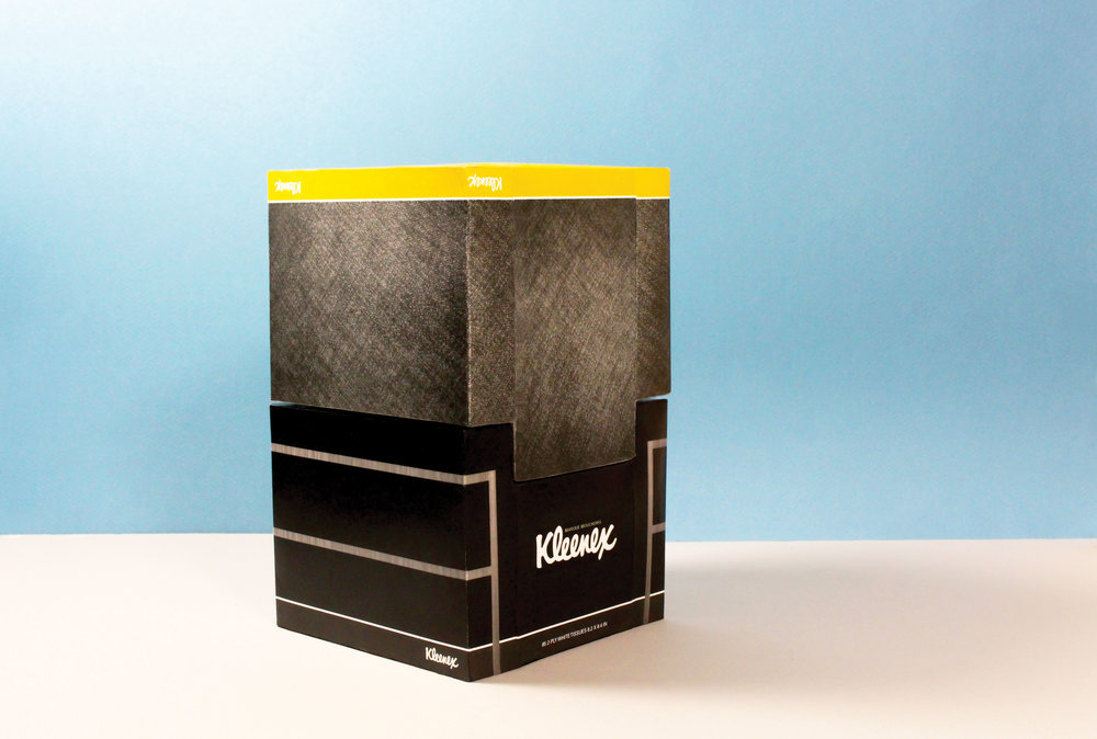 Kleenex Tissue Box Redesign — serena chen. on household items graphics, household items photography, jewelry redesign, household items repairs,