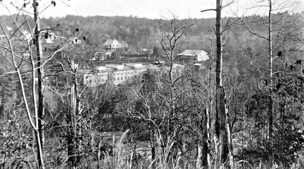 Star Thread Mill Factory and village of Barnett Shoals, GA. Circa 1900.