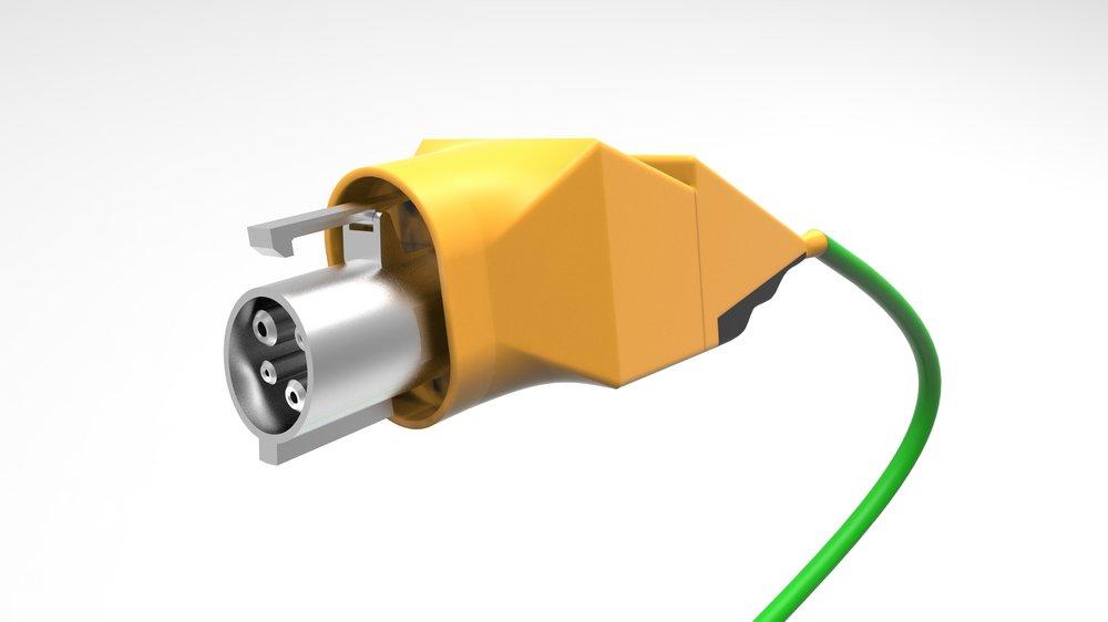 Gatorade-inspired Electric Charging Station: Lightning bolt handle (SolidWorks; Keyshot)