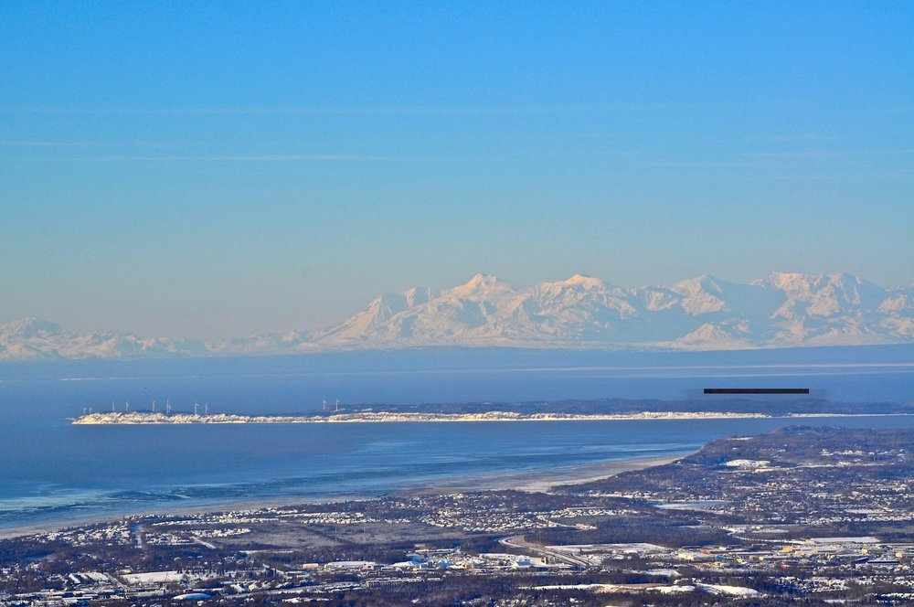 Winter mountain view from Anchorage