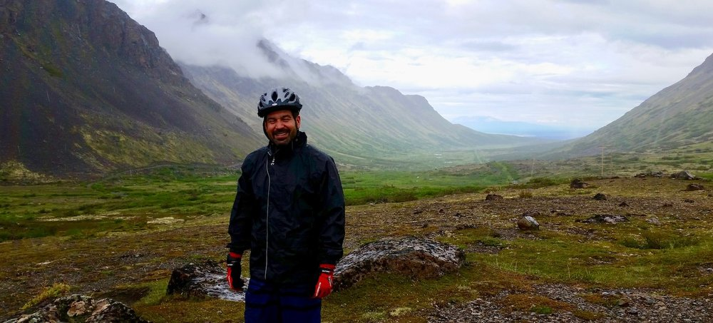 Chugach State Park valley views on mountain bike tour