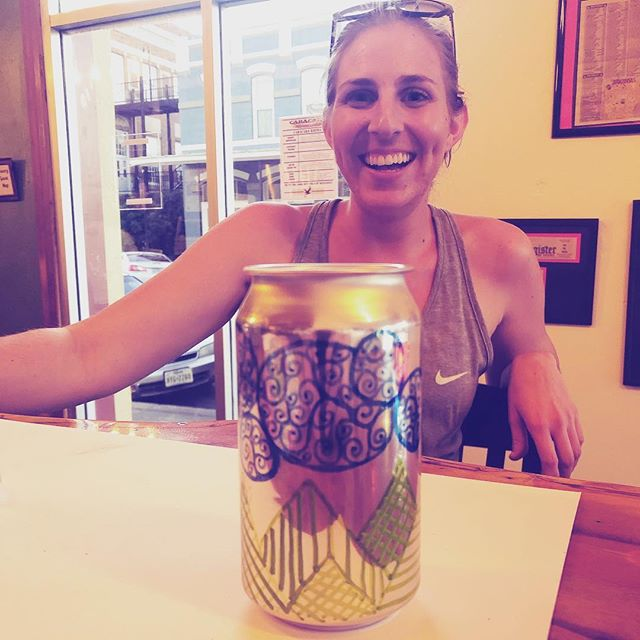 Don't forget! Tonight is Brite and Shiny Wednesday! Come decorate your cans and we'll fill em for ya! #beer #brewpub #cans #art #annefunk