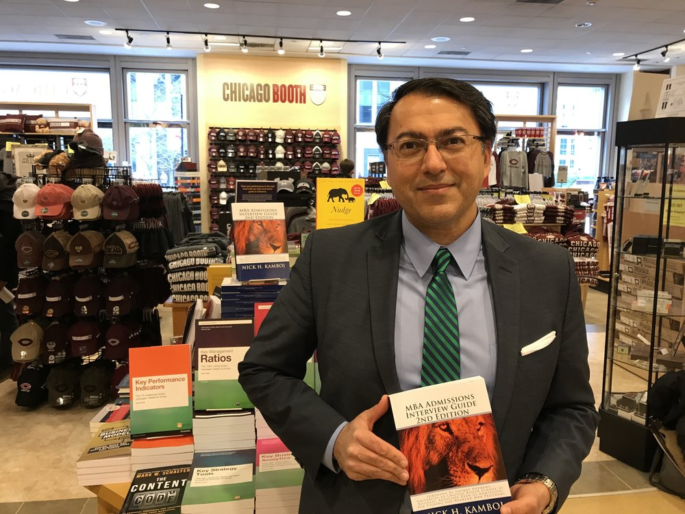 Nick H. Kamboj with his best selling MBA Admissions Interview Guide 2nd Edition, soon to be published under the Aston & James Publishing, LLC imprint.