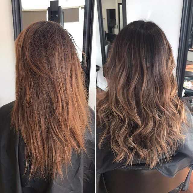 Before and after natural balayage done by Kiara 😍👌🏼 . . . . . #whatatransformation #floreathair #perthhair