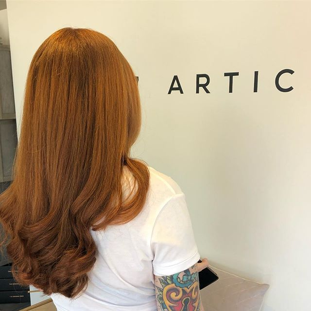 Our long time client Erin loving her gorgeous new colour 👩🏼🦰💇♀️ . . . . . . . #nofilter #davines #hair #floreat #perthhairdresser #copper #curls #colour #perthsalon #articohair #cambridgestreet