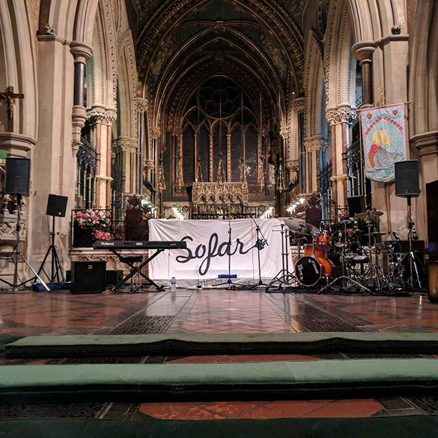 In St Peters church in Bournemouth tonight with @sofarsoundsbournemouth. Such a beautiful venue with some amazing acts! #livesound #sofarsounds