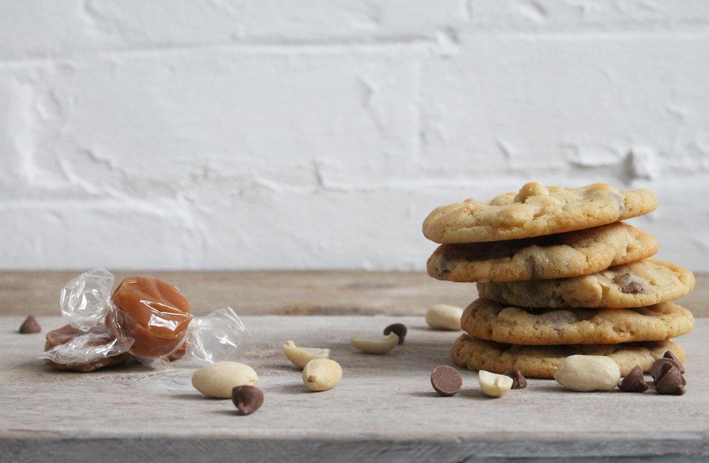peanut and chocolate cookies