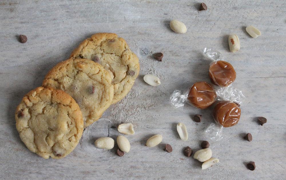 peanut and toffee cookies