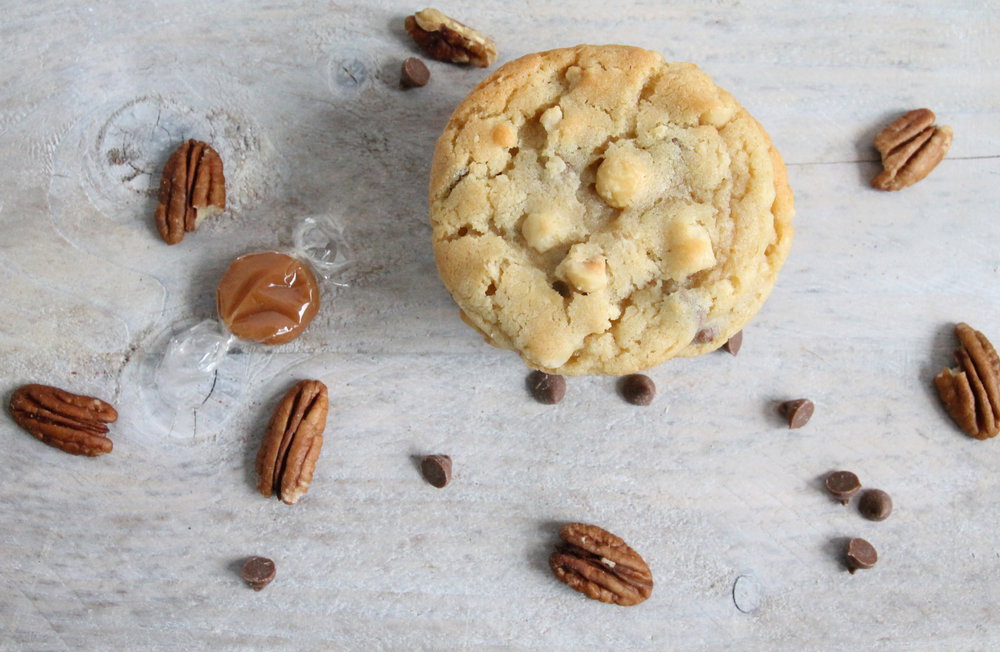 toffee and pecan cookies