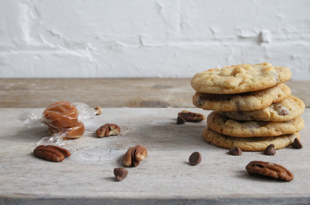pecan and toffee cookies, cookie gifts