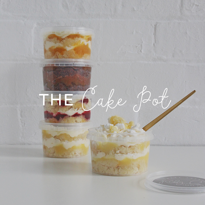 Cake pots delivered in the post