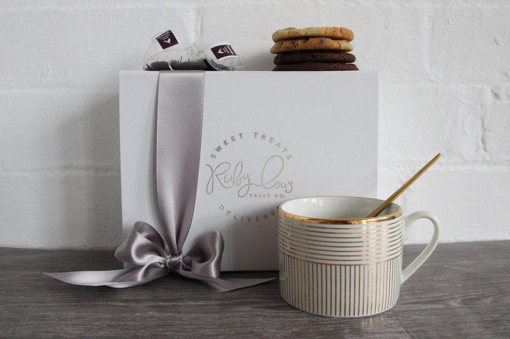 Cookies and tea gift box