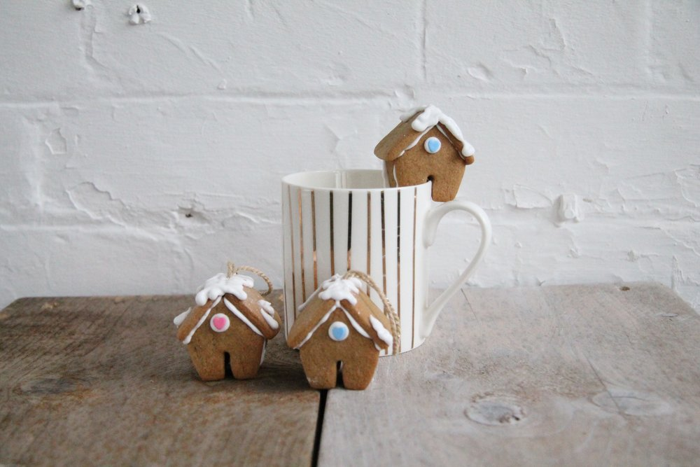 Ginger bread house mug hangers