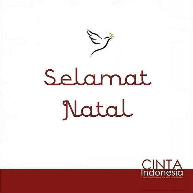 Selamat Natal bagi kawan Kristen dan Katolik yang merayakan. Damai beserta kita semua! #Youth #Interfaith #Indonesia #Peace #Harmony #Xmas #Natal #Damai
