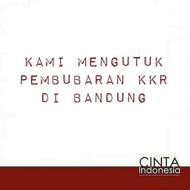Semua warga negara berhak menjalankan agamanya. Tidak ada yang lebih berhak atau kurang berhak. #Bandung #intolerance #peace #harmony #youth #Indonesia