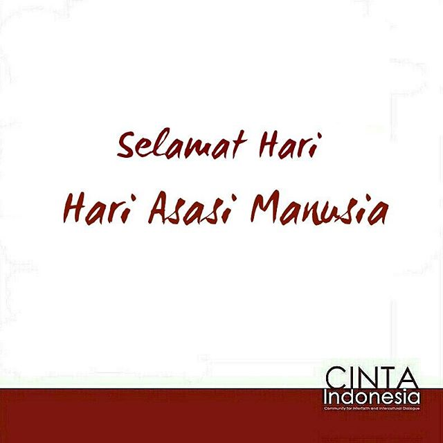 Tiap-tiap manusia berhak memeluk agama/kepercayaan apapun. Tugas kita adalah saling menghormati. #HAM #HakAsasiManusia #HumanRights #Indonesia #Youth #Interfaith #Harmony #Peace