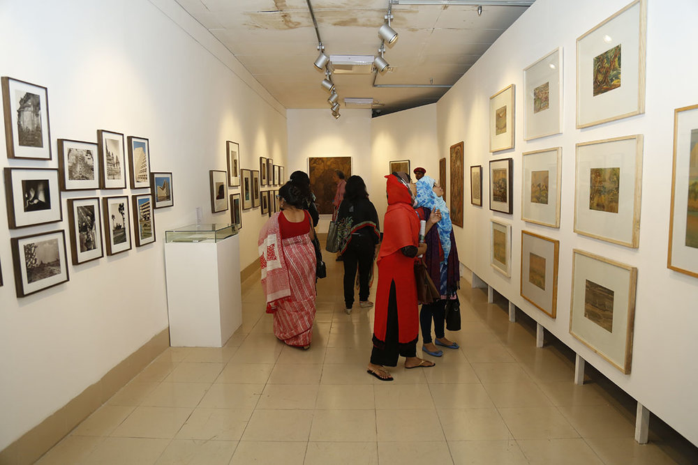 Installation view. Photo courtesy of the Dhaka Art Summit and Samdani Art Foundation. Photo credit: Noor Photoface