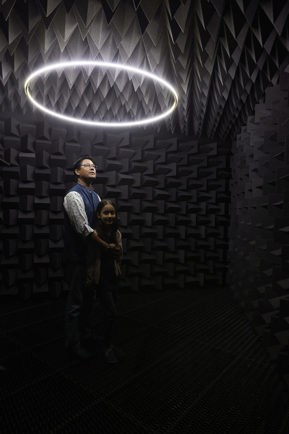 Haroon Mirza, installation view of The National Apavilion of Then and Now, 2011, courtesy of the artist and Lisson Gallery, London. Photo courtesy of the Dhaka Art Summit and Samdani Art Foundation. Photo credit: Jenni Carter