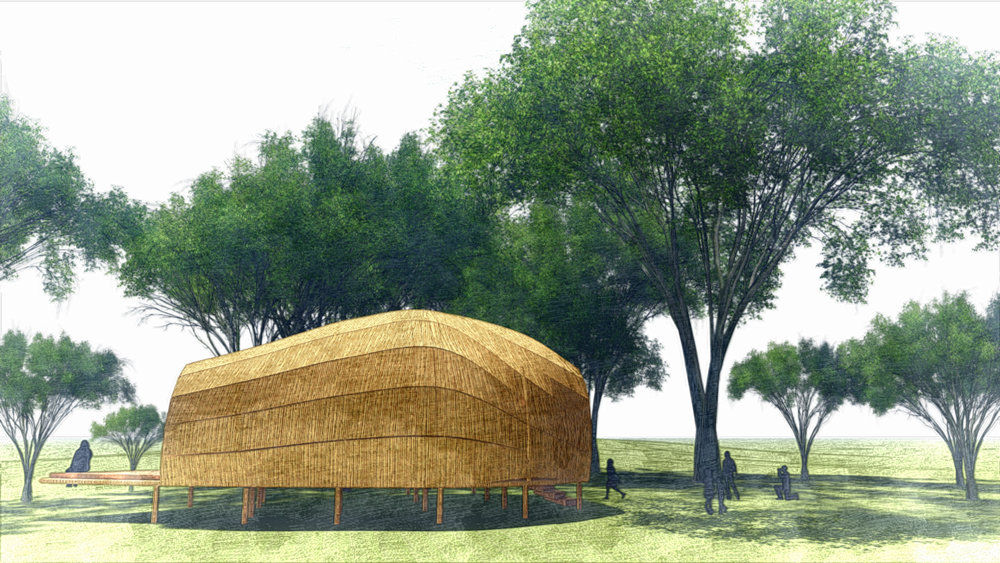 Rendering of the Dhaka Art Summit 2018 Education Pavilion