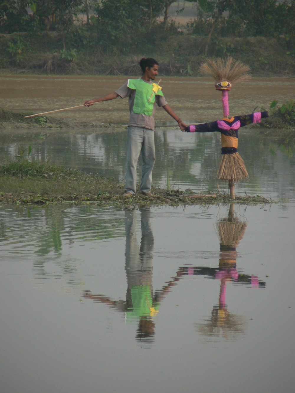 Image from first CRACK art camp, Polash with his girlfriend. Courtesy of Shawon Akand
