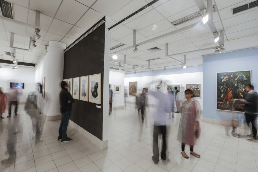 Installation view of the exhibition Asian Art Biennale in Context