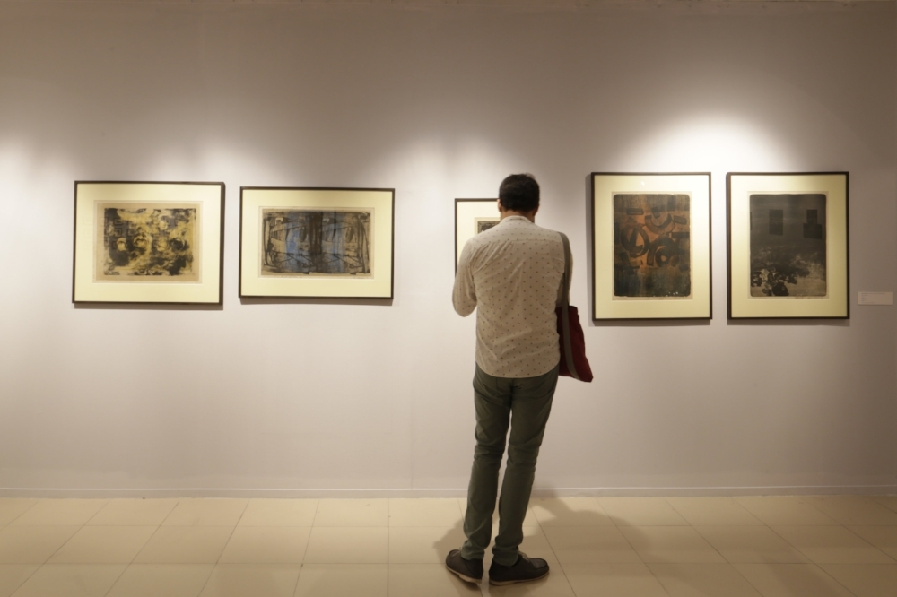Installation view of the works by Mohammad Kibria
