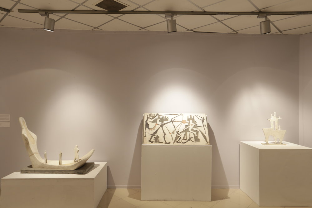 Installation view of Novera Ahmed's work as pat of the exhibiton Planetary Planning